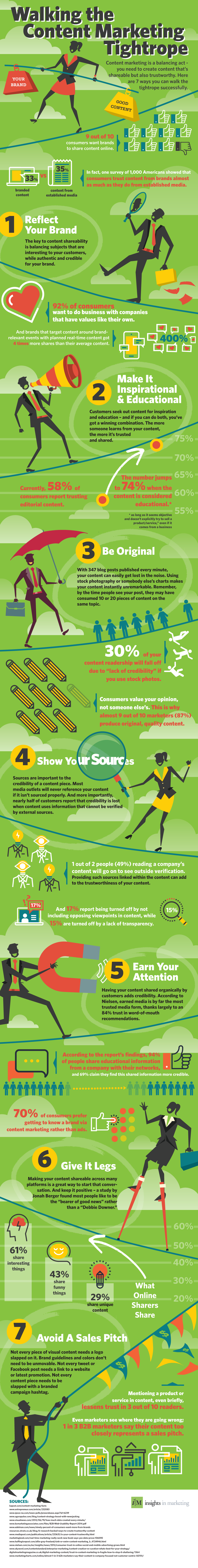 #Infographic: 7 Ways to Walk the Content Marketing Tightrope