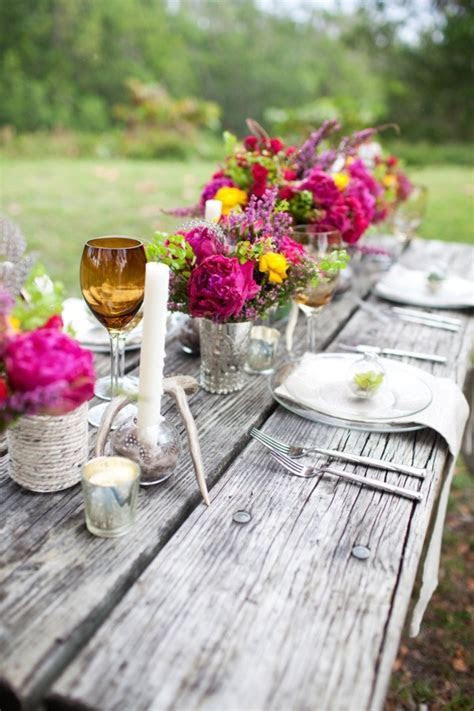Pink For the wedding table setting ideas   Fab Mood