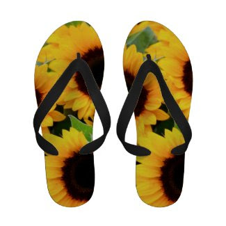 Sunflowers Flip-Flops