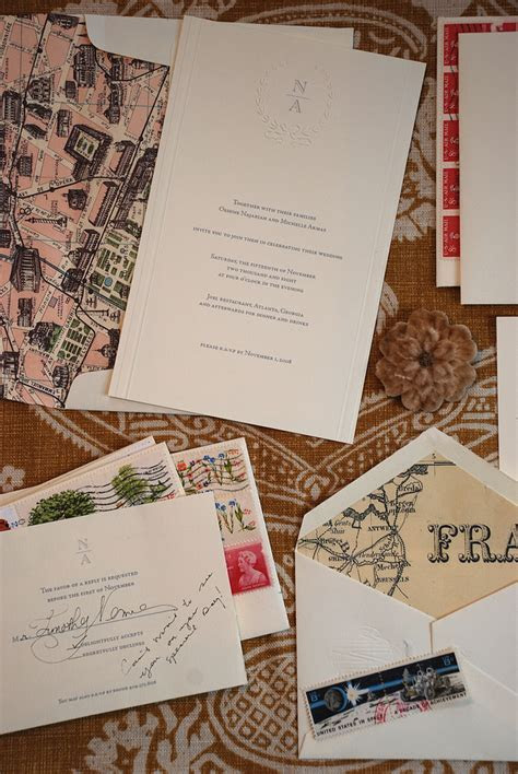 Michelle   Oshine's Paris Inspired Wedding Invitations