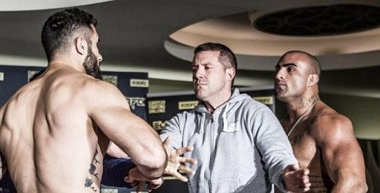 Brasileiro troca chutes com sueco em pesagem de MMA