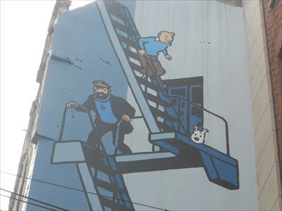 The Adventures Of Tintin Mural Brussels Belgium It S All About
