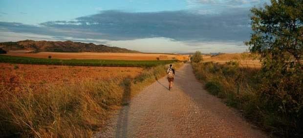 Cielo y tierra: por el Camino de Santiago a su paso por los campos de Castilla (España)