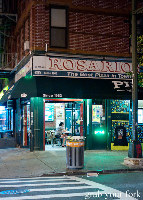 rosario pizza lower east side italian new york pizza ny usa