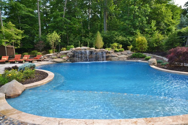 Swimming Pool Waterfalls - traditional - pool - newark - by Scenic ...
