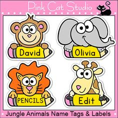 Bee Theme Classroom - Name Tags and Labels - Editable - Pink Cat ...