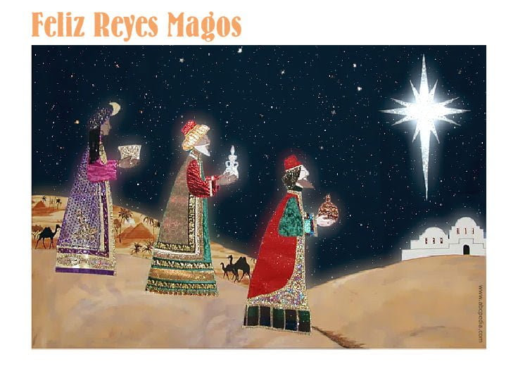 Reyes Magos Cartas Dibujos Y Tarjetas Para Imprimir Abcpedia