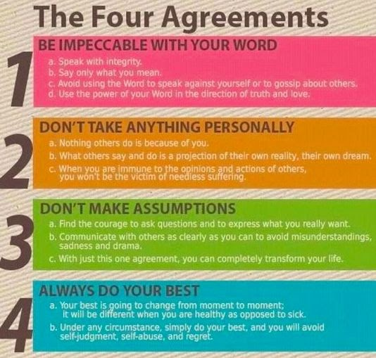 Recreation Therapy Ideas The Four Agreements For Self Care