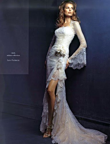 transparent wedding dress is very sexy and elegant for the user