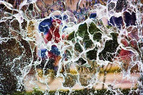 Muro de agua en Torrevieja