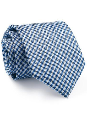 Mẫu Cravat Đẹp 10 - Màu Trắng Caro Xanh