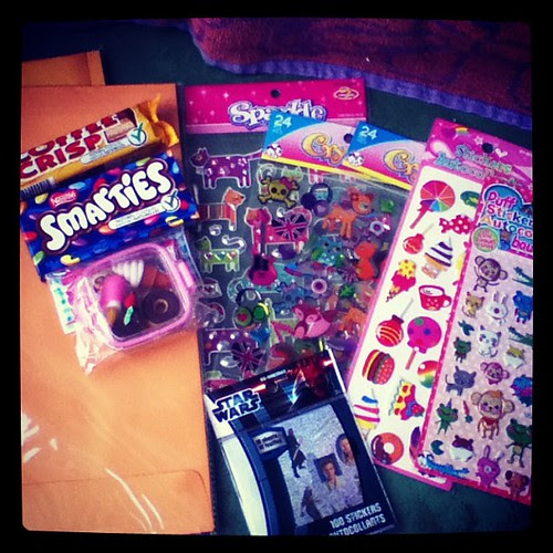 Picked up some things for packages going out! #iggppc #candy #stickers