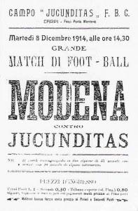 Locandina per l'incontro dell'8 dicembre 1914.
