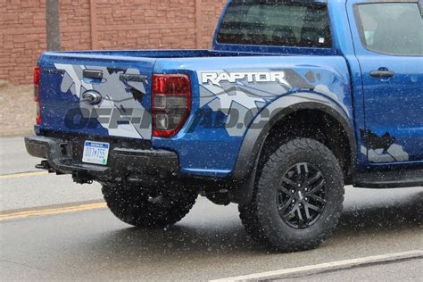 ford ranger raptor spotted testing  michigan streets