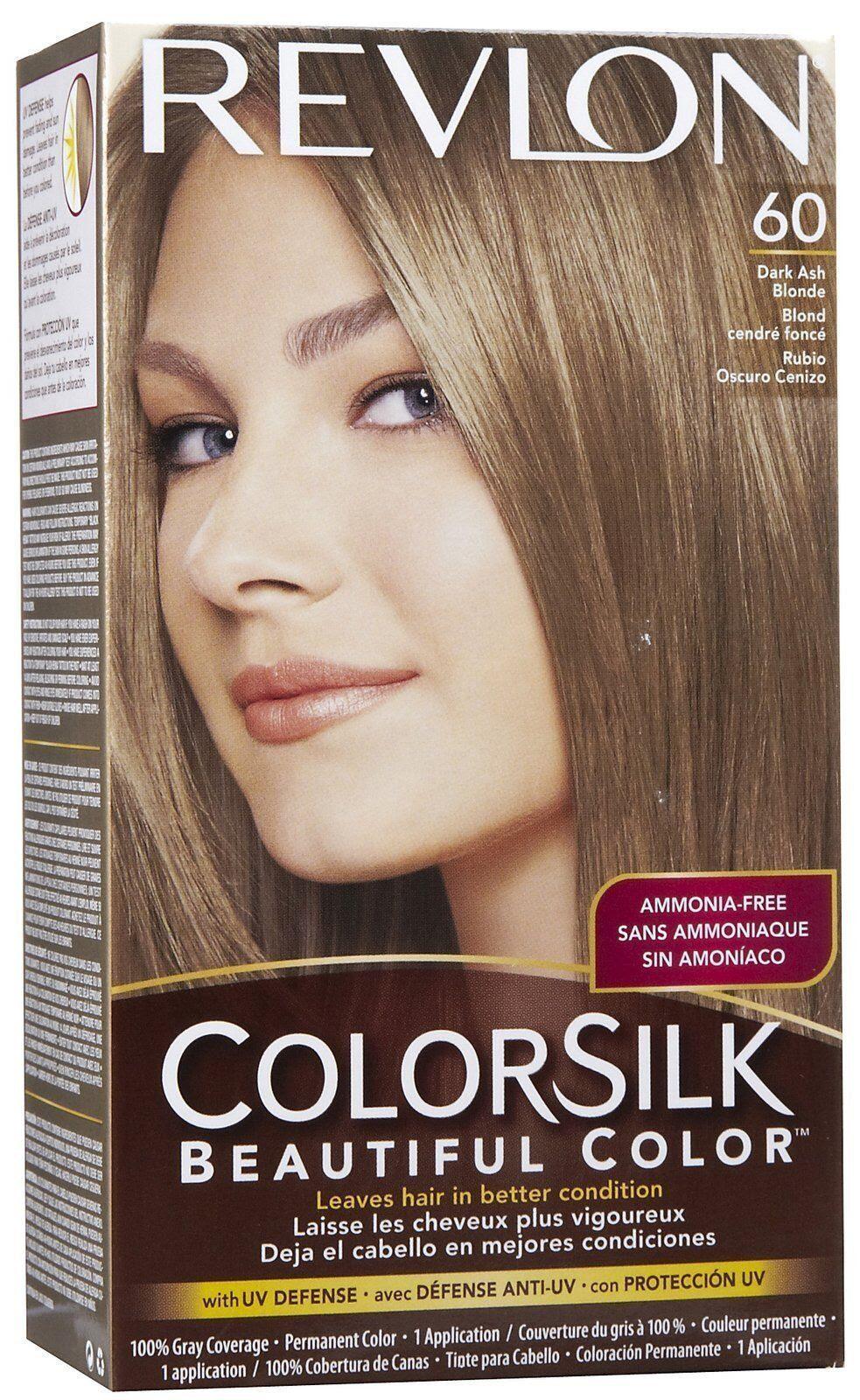 Revlon Colorsilk Hair Color, Dark Ash Blonde #60 -1 Kit | eBay