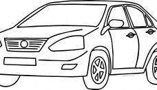 Audi Orta Sınıf Araba Boyama Sayfası