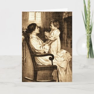 Vintage Mother and Child Card card