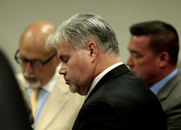 Defendants Christopher Butler, center stands before the judge with  , Stephen Tanabe and his attorney Dan Russo to enter a plea in the  co-conspiracy case at the Contra Costa Superior Courthouse, Thursday June 23, 2011, in Walnut Creek, Calif. All four defendants plead not guilty and will return to court in October. Photo: Lacy Atkins, The Chronicle