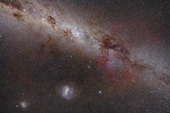 Magellanic Clouds and Gum Nebula with Zeiss Distagon 21mmF2.8 May 2010 Light Version