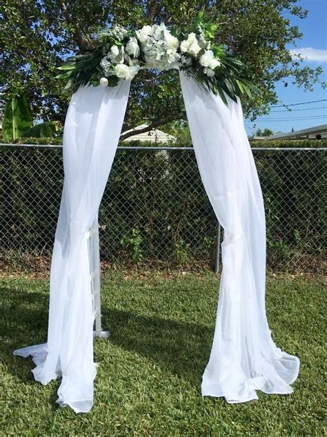 Decorated Wedding Arch Frame   Happy Party Event Rentals