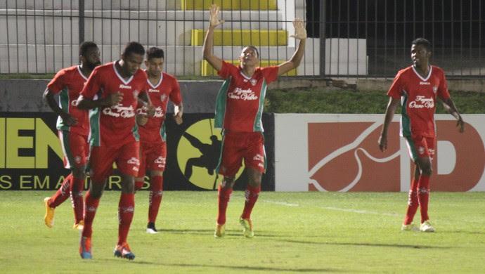 Chapinha - Boa Esporte comemoração gol (Foto: Diego Simonetti/Blog do Major)