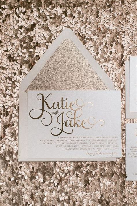 Rose gold wedding invitations! Rose gold foil, Rose gold