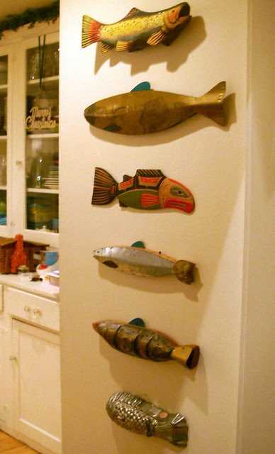 new Fish (cedar carving) from Santa
