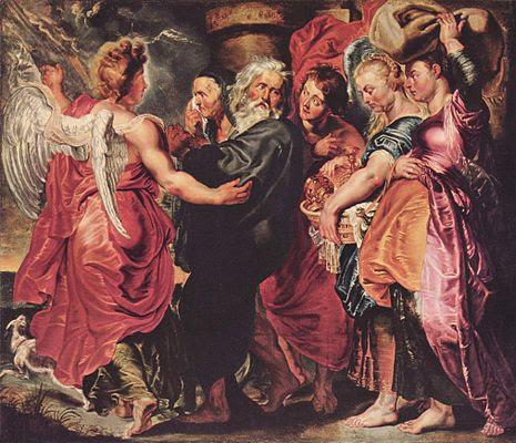 Paul Rubens 1615 lot fugge con la sua famiglia