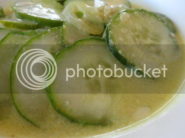 Cucumbers in Coconut Milk Sauce