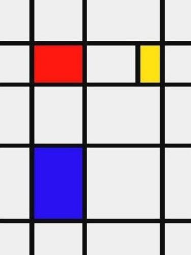 Piet Mondrian Composição em vermelho, amarelo e azul