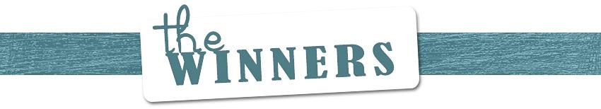 THE blog hop WINNERS week 1 TITle