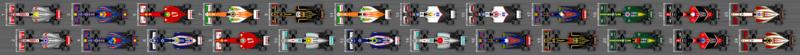 Schéma de la grille de qualification du Grand Prix du Brésil 2012