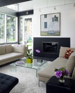 New England Contemporary Living Room contemporary living room