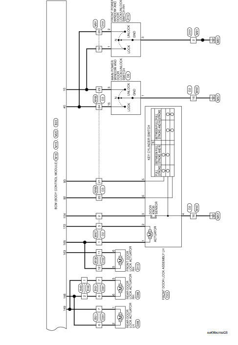 Power Door Lock Actuator Wiring Diagram