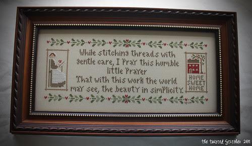 Stitchers Prayer with signature