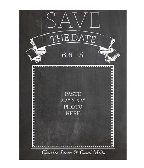 Free Printable Chalkboard Save the Date Cards   Printable