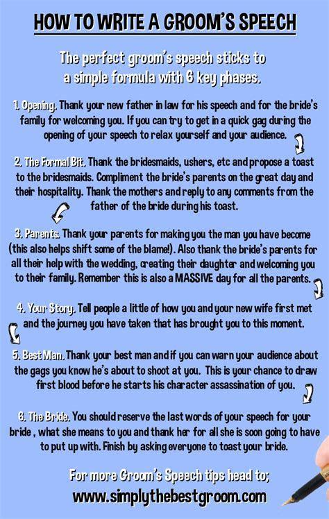 How to Write A Groom's Speech www.simplythebestgroom.com