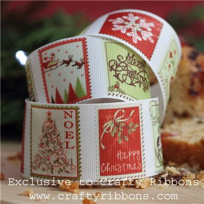 Christmas Charm Ribbon - Stamps