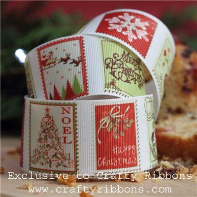 Christmas Charm Ribbon - Stamps