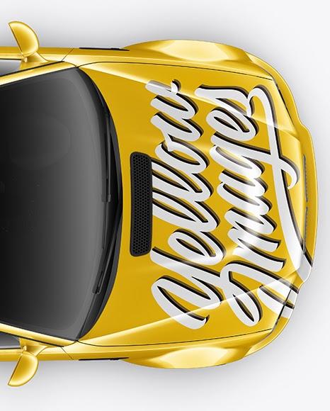 Download Download Psd Mockup 3 Series Auto Bmw Car Headlight M3 Mockup Sedan Top View Vehicle Wheels PSD Mockup Templates
