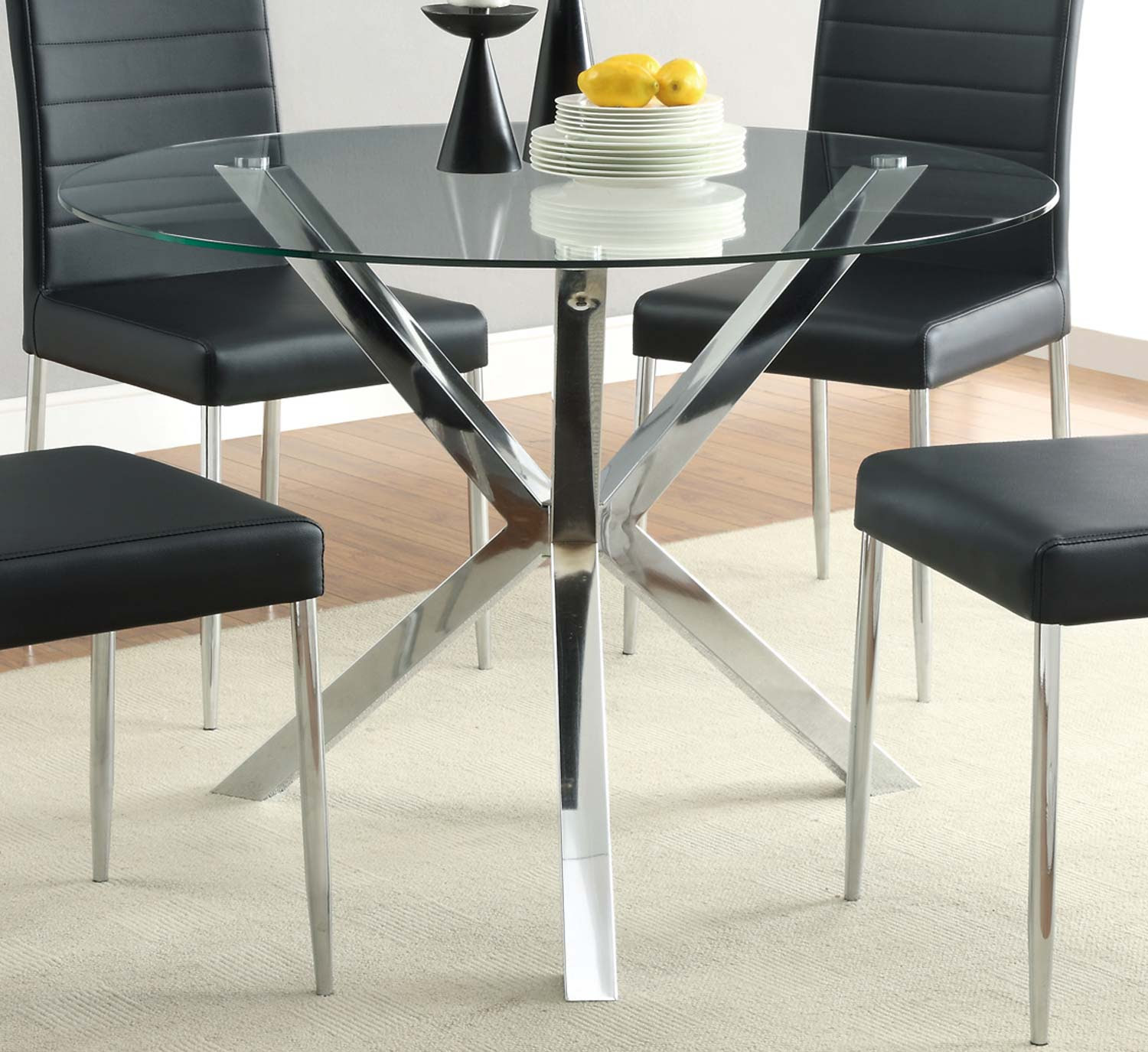 Coaster 120760 Vance Chrome Dining Table
