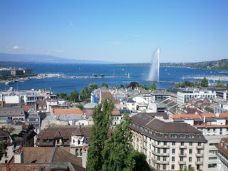 View of Geneva from the Saint Pierre Cathedral