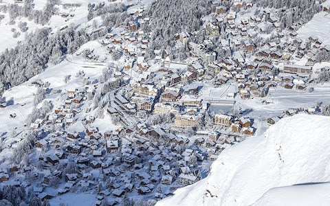 The mountain village of Wengen