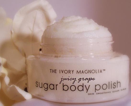 Juicy Grape Body Polish Skin Smoothing Sugar Scrub 4oz made with Certified Organic Pure Cane Sugar