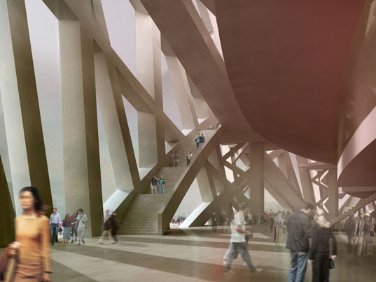 Beijing Olympic Stadium, Beijing Olympics 2008, Birds Nest building, Herzog DeMeuron, 2008 Olympics Site, Olympic Stadium Interior, herzog demeuron interior