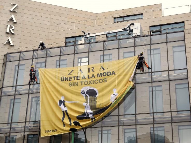 Protesta contra Zara