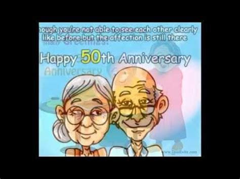 Happy 50th wedding Anniversary Greetings card/Video   YouTube
