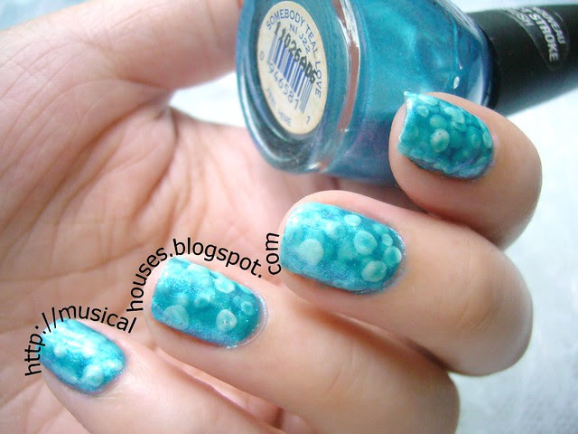 Pond Manicure Nicole OPI Somebody Teal Love 2