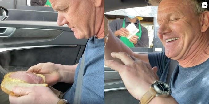 Gordon Ramsay Went Through A Starbucks Drive-Thru To Roast The Chain's Food For Fun