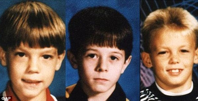 Murdered: New possible suspects have been named in the killings of Christopher Byers, left, James Michael Moore, centre, and Steven Branch, right, who were found tied up and mutilated in 1993